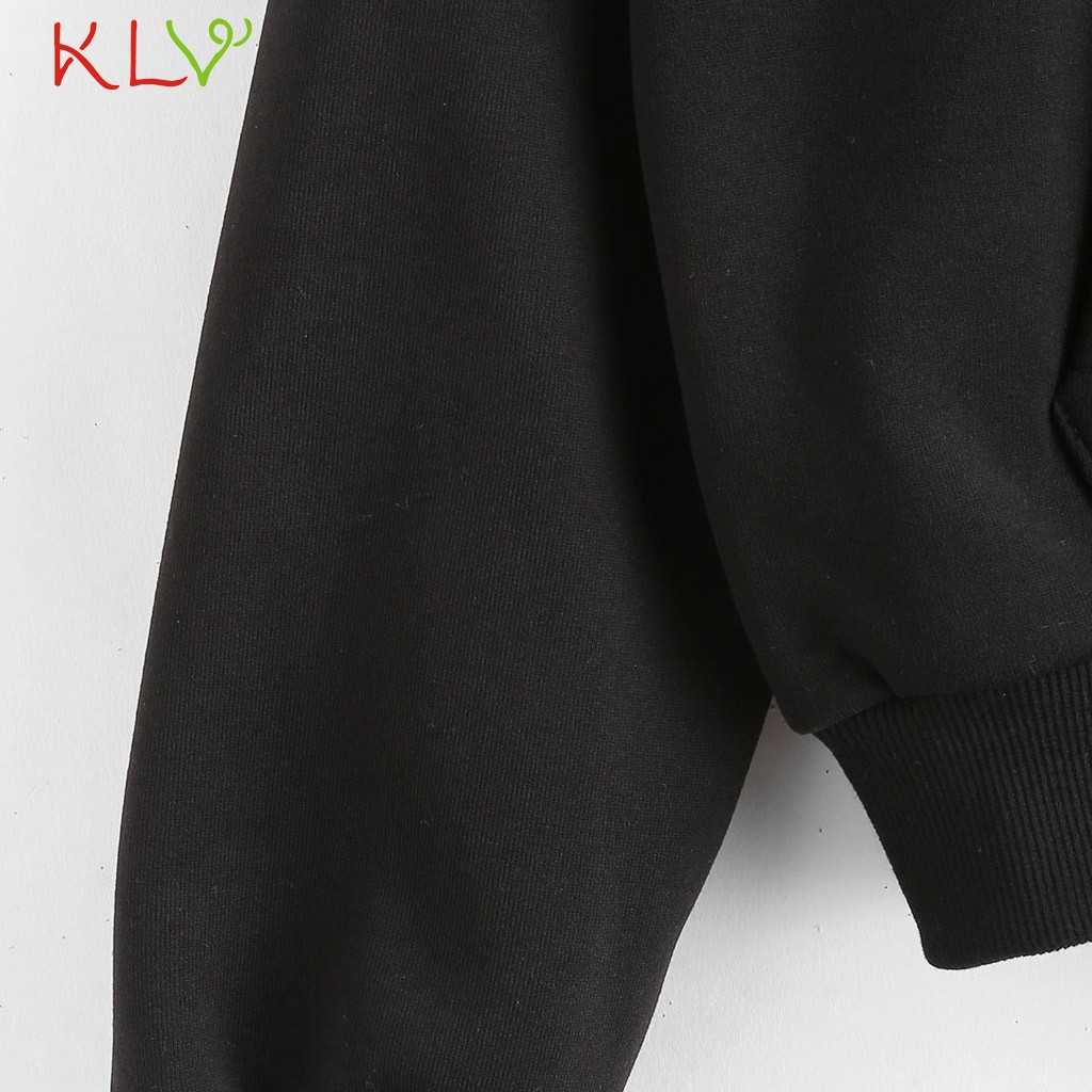 Frauen Sweatshirt Hoodie Stich Front Tasche Pullover 2019 Winter Herbst Kpop Streetwear Moletom Casual Hoody Damen Kleidung 19Aug