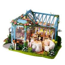 Magideal 1/24 diorama miniatura casa de bonecas diy kit jardim loja de bolo casa de chá