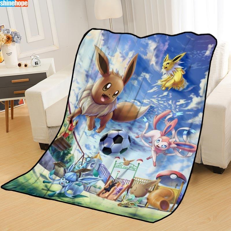 Ev ve Bahçe'ten Şal'de Özel Pokemon battaniye yatak atmak battaniye yumuşak battaniye yaz battaniye anime battaniye seyahat battaniyesi title=