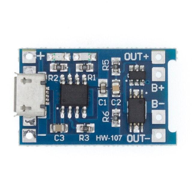 5 قطعة TP4056 5 فولت 1A المصغّر USB 18650 بطارية ليثيوم شحن مجلس وحدة شاحن + حماية وظائف مزدوجة