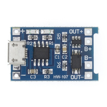 5pcs TP4056 5V 1A Micro USB 18650 Lithium Battery Charging Board Charger Module+Protection Dual Functions