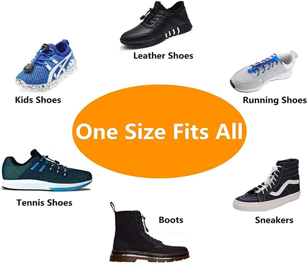 Footful Black Running//Triathlon//Sports Elastic Shoelaces Lock Laces Trainers