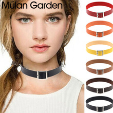 M&G Punk Belt Faux Leather Choker for Women Girl Sexy Night Club Collar Choker Necklace Punk Party Jewelry Accessories Gift 2020 printio punk girl