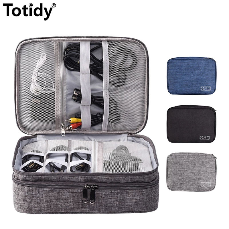 Shockproof Electronic Travel Accessories Digital Bag Earphone Storage Bag Gadgets Pouch Power Bank USB Charger Cable Organizer