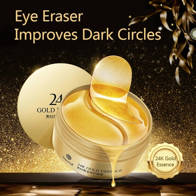 60pcs 24K Gold Collagen Eye Mask Anti Wrinkle Sleep Crystal Eye Patch Moisturizing Dark Circles Remover Eye Mask Eye Care 1
