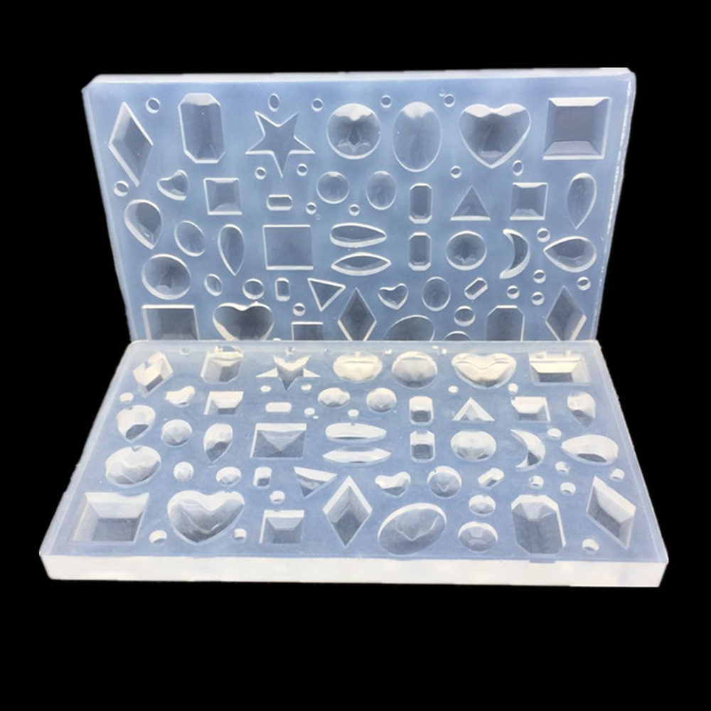 Heart Star Moon Geometric Silicone Mold DIY Mould Resin Craft Tool For Jewelry Pendant Earrings Necklace Jewellery Making Tools