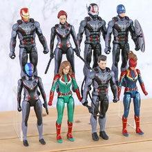 Homem De Ferro vingadores Viúva Negra Formiga Man Capitão América Nebulosa Hawkeye Maravilha Figura de Ação DO PVC Brinquedos 8 pçs/set