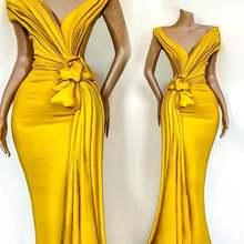 Черные желтые платья на выпускной в африканском стиле для девочек
