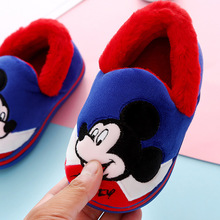 Baby Shoes Slippers Mickey Mouse Winter Cartoon Children Disney Indoor Cute Cotton Warm