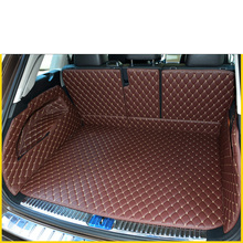 цены Lsrtw2017 Leather Car Trunk Mat Cargo Liner for Volkswagen Touareg 2011 2012 2013 2014 2015 2016 2017 2018 2019 Accessories