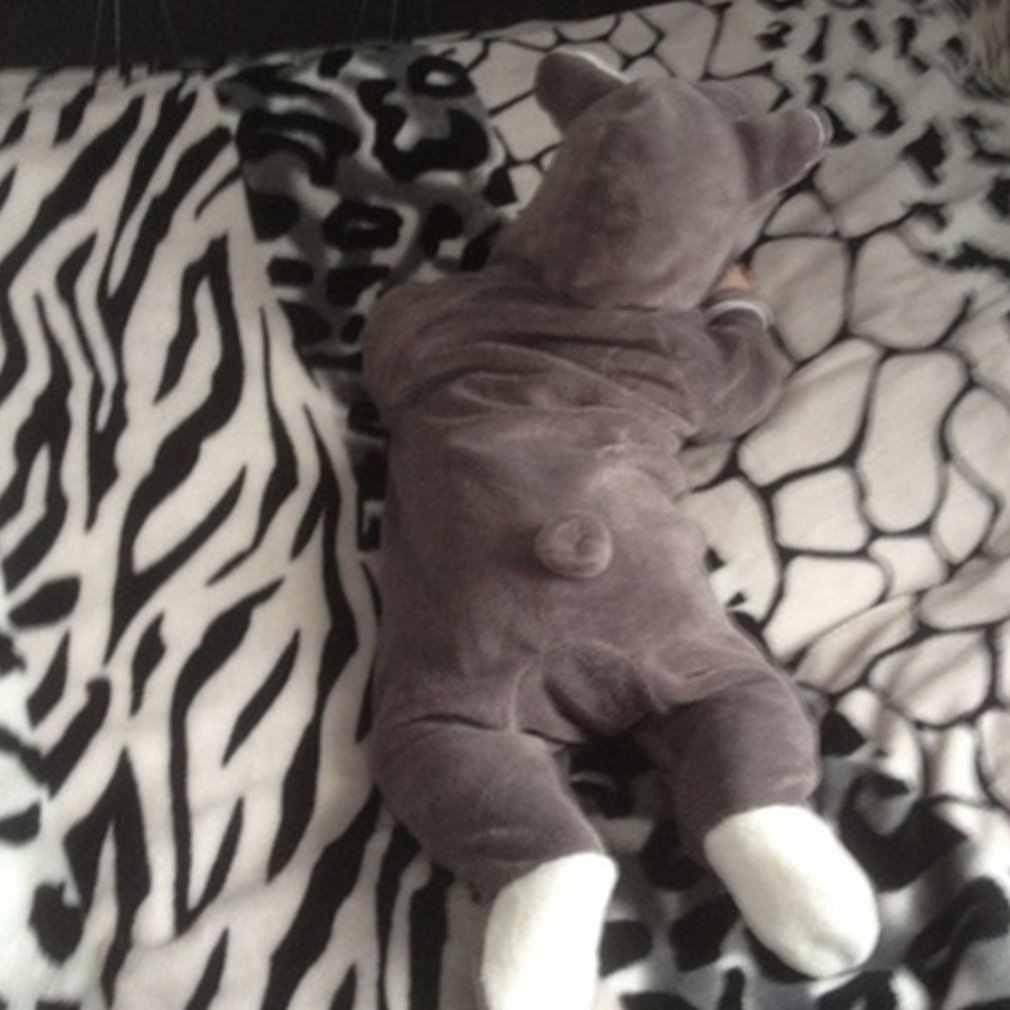 Yeni bebek Romper kış Toddler bebek kız Set yenidoğan bebek kız erkek katı karikatür kapüşonlu tulum Romper giysileri