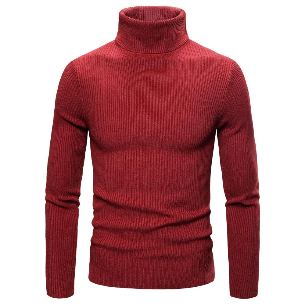 Winter High Neck Thick Warm Sweater Men Turtleneck  Mens Sweaters