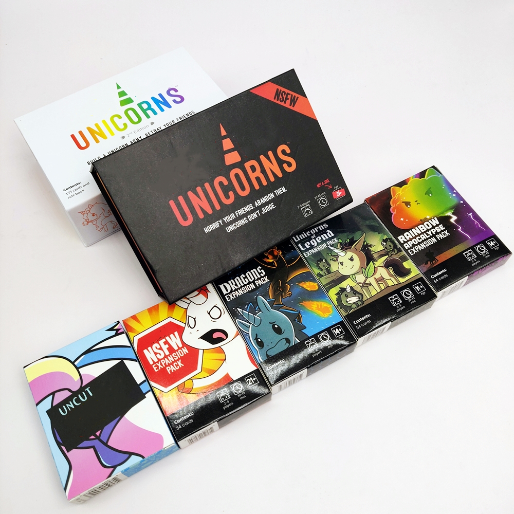 New Unstable Second Edition Unicorns Core Board Game Card And Dragons NSFW Rainbow Uncut Legend Expansion Pack