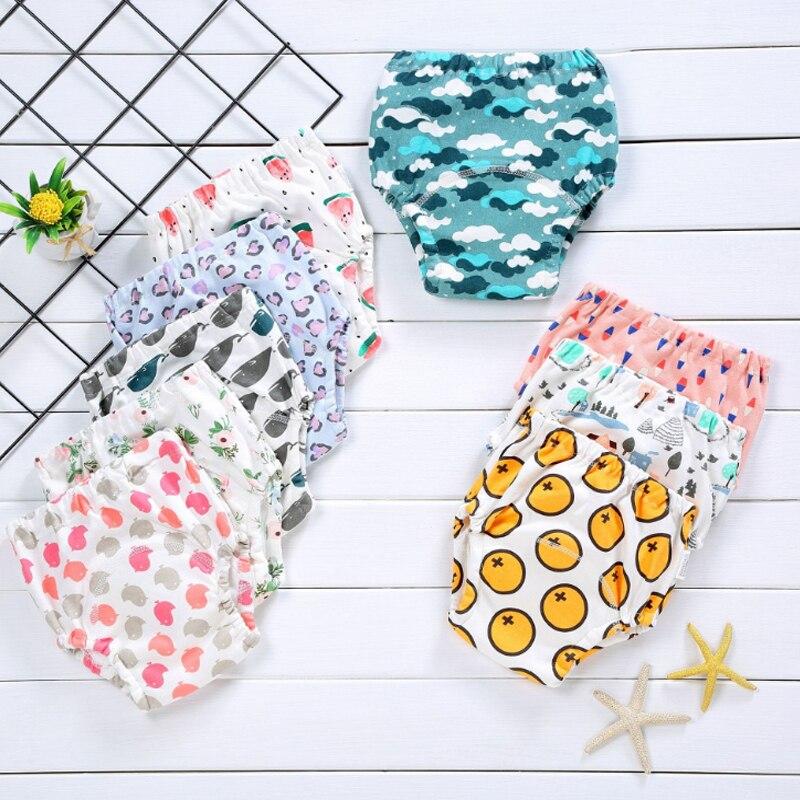 1 Cotton Baby Reusable Diaper Washable Cloth Child Training Pants Underwear