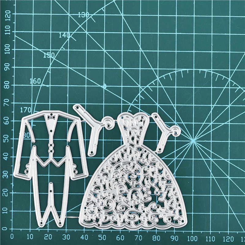 Inloveartsカップルの結婚式は金属切削ダイススクラップブック紙の装飾クラフトナイフ金型ブレードパンチステンシルダイスカット