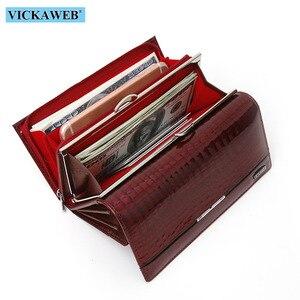 Image 5 - VICKAWEB ของแท้หนังผู้หญิงกระเป๋าสตางค์ Multifunction สตรีคลัทช์ขนาดใหญ่กระเป๋าสตางค์สุภาพสตรีกระเป๋าใส่นามบัตรกระเป๋าถือ