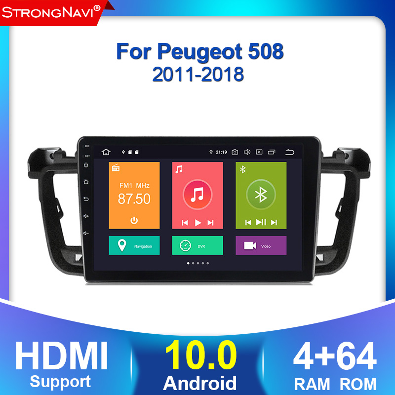 Android 10 4 + 64G DSP автомобильный радиоприемник с навигацией GPS стерео для PEUGEOT 508 2011 2012 2013 2018 головное устройство авто радио мультимедиа плеер|Мультимедиаплеер для авто|   | АлиЭкспресс
