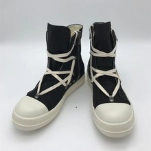 High-Top Canvas Shoes Men Luxury Brand T