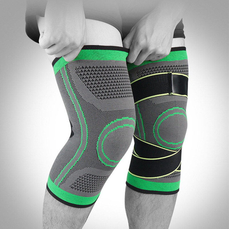 ZYSK 1 PCS Sport Fitness Running Knee Support 3D Weaving Knee Sleeves Padded Protection Volleyball Basketball Knee Protector New