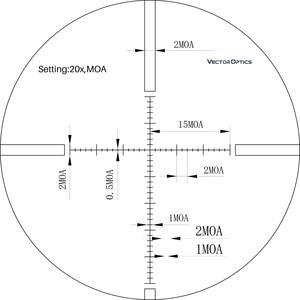 Image 5 - ベクトル光学Gen2 sentinel 8 32x50 戦術的なライフルスコープ望遠鏡視力のためのマークリングハニカムサンシェードとフォックス鹿狩猟
