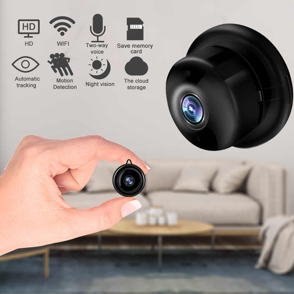 Home Security Mini Wifi 720P 1080P Ip Camera Draadloze Kleine Cctv Infrarood Night Vision Bewegingsdetectie Sd-kaart slot Audio App
