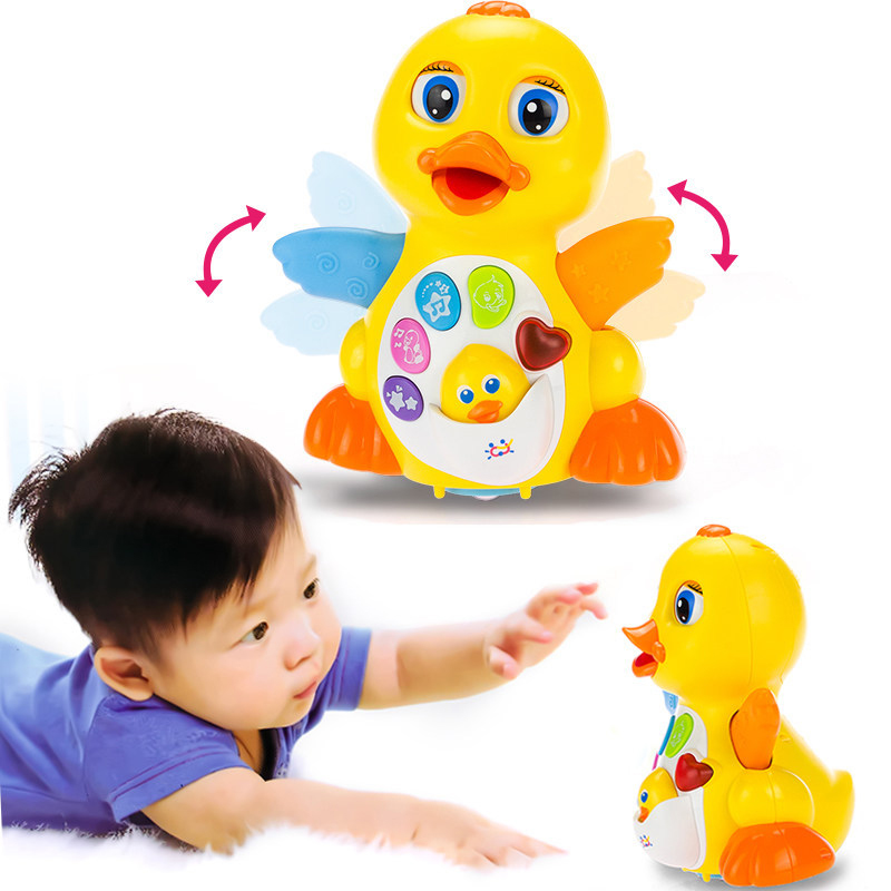 1-3 Years Old Baby Toys EQ Flapping Yellow Duck Infant Brinquedos Bebe Electrical Universal Toy For Children Kids Drop Shipping
