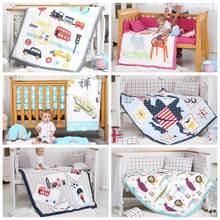 I-baby Детский Комплект постельного белья, 9 шт., Комплект постельного белья для кроватки, для новорожденных, хлопок, с принтом, простыня, пододеяльник, подушка, бампер, комплекты для кроватки, для мальчиков и девочек