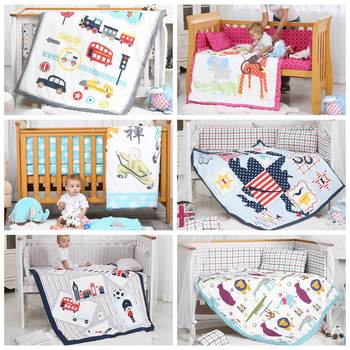 цена на i-baby Baby Bedding Set 9pcs Crib Bedding Set Newborn Cotton Printed Cot Fitted Sheet Duvet Pillow Bumper Sets in Crib Girl Boy