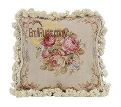 woolen Hand Carved needlepoint pillows Elegant French Design woolenen Needlepoint luxury Sofa Cushions