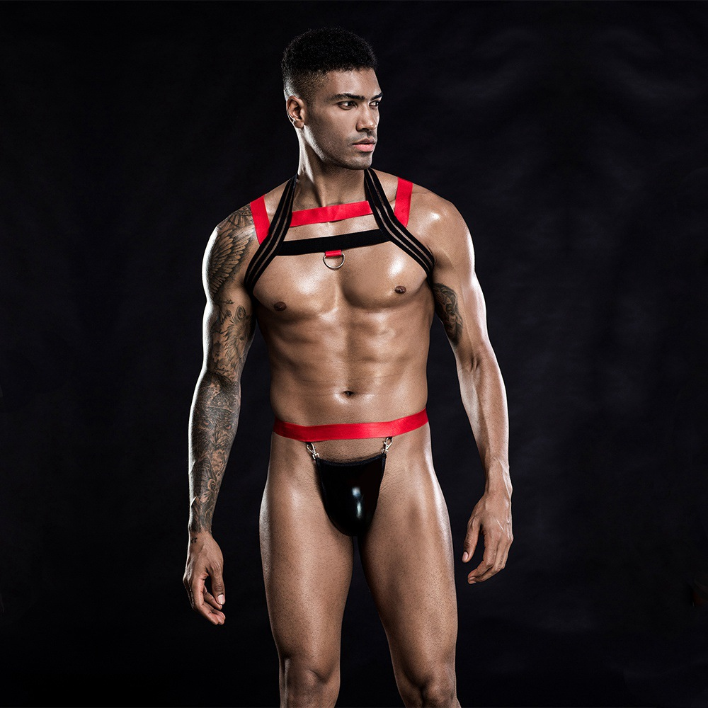 Men's Harness Exotic <font><b>Lingerie</b></font> <font><b>Set</b></font> <font><b>Gay</b></font> Body Bondage Chest Suspenders Belt For Male Gothic Nightclub Wear Sexy Costumes Outfit <font><b>Set</b></font> image
