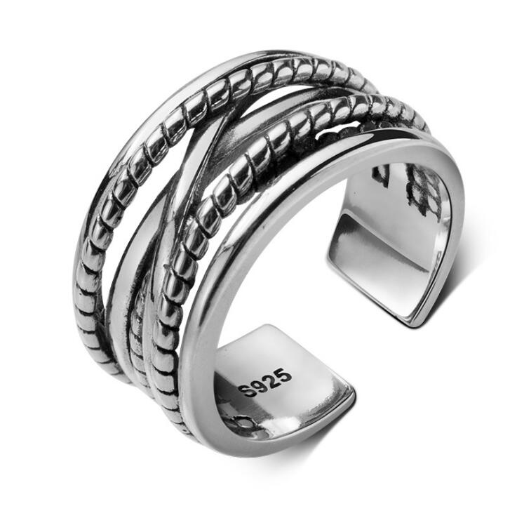 Silver Rings 100% Guaranteed Real 925 Sterling Silver Jewelry Open Ring For Women
