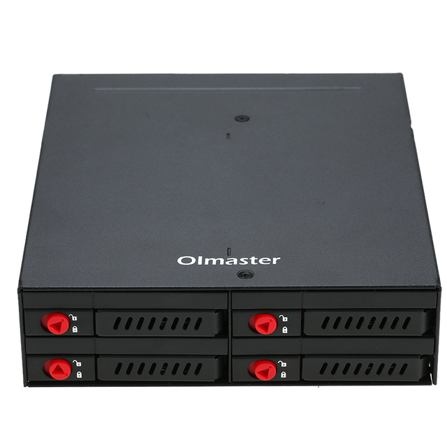 OImaster 4 Bays 2.5'' SATA HDD SSD Hard Drive Mobile Rack Backplane with Lock Locker Function Support Hot-swap 6Gbps