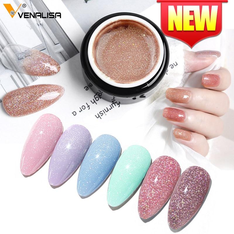 Яркий гель для ногтей с блестками venalisa 5 мл лазерный Серебристый Розовый Жемчужный корпус Полупостоянный отмачиваемый УФ Гель лак|Гель для ногтей|   | АлиЭкспресс
