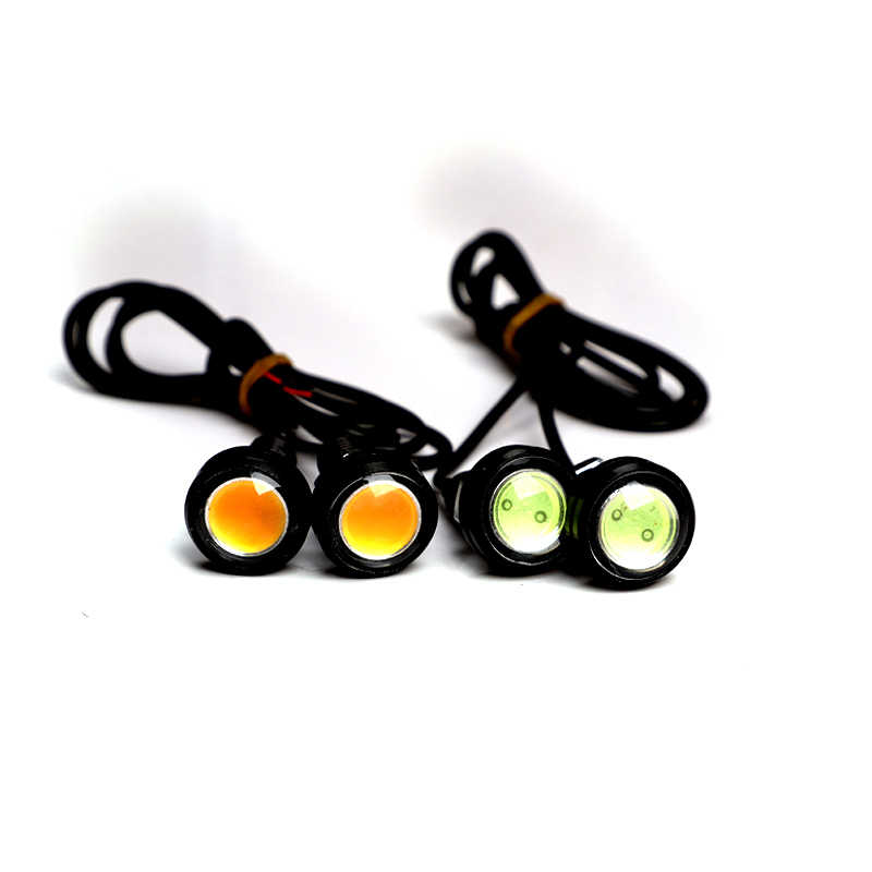 23/18 MM Car Eagle Eye DRL Led Daytime Running Lights LED 12V Backup Reversing Parking Signal Automobiles Lamps DRL Car styling