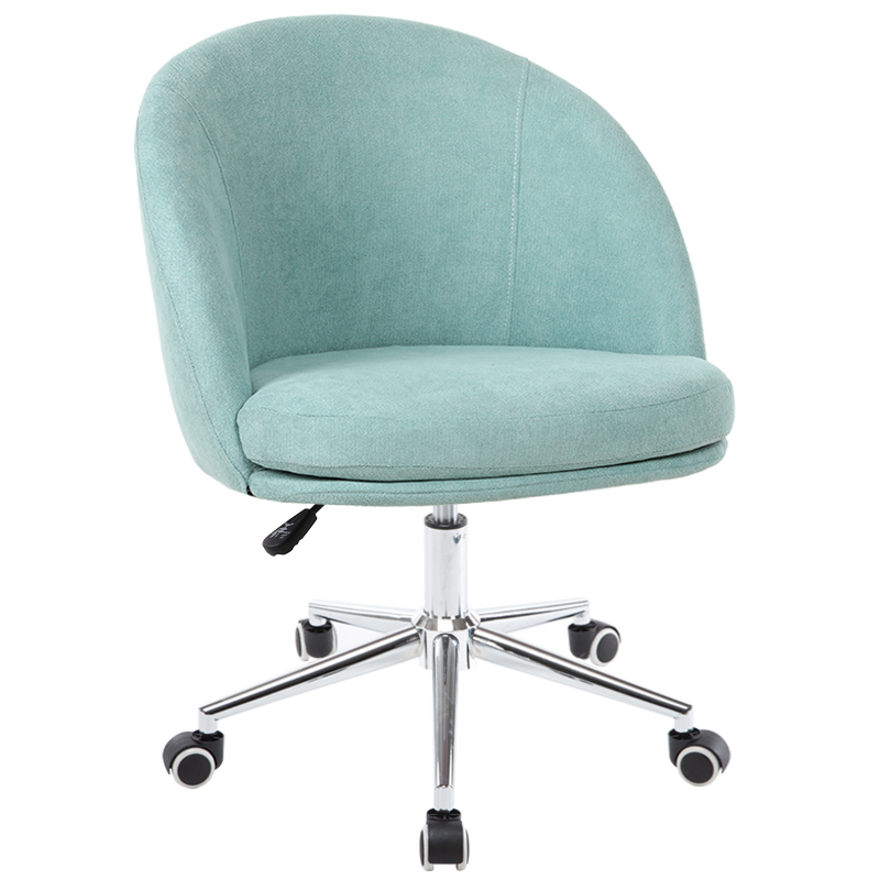 Fully Washable Nordic Computer Chair Single Fabric Desk Chair Bedroom Sofa Chair Net Red Girl Cute Chair Office Chair