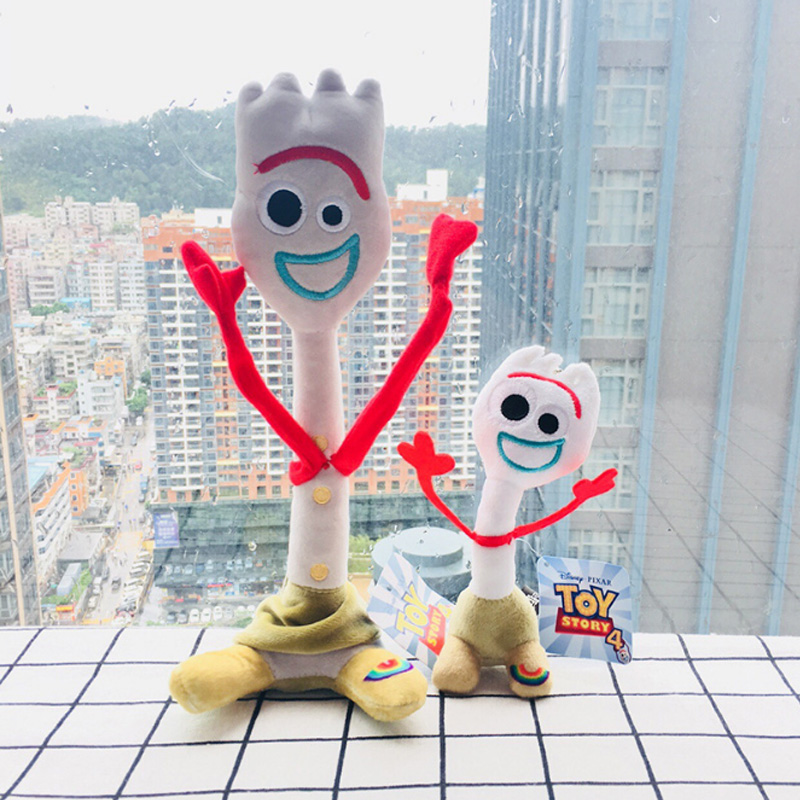 High quality 15cm 26cm Toy Story 4 Forky Buzz Lightyear Woody Soft Plush toy Stuffed Doll Figure Cartoon Toys for Children Gift 2