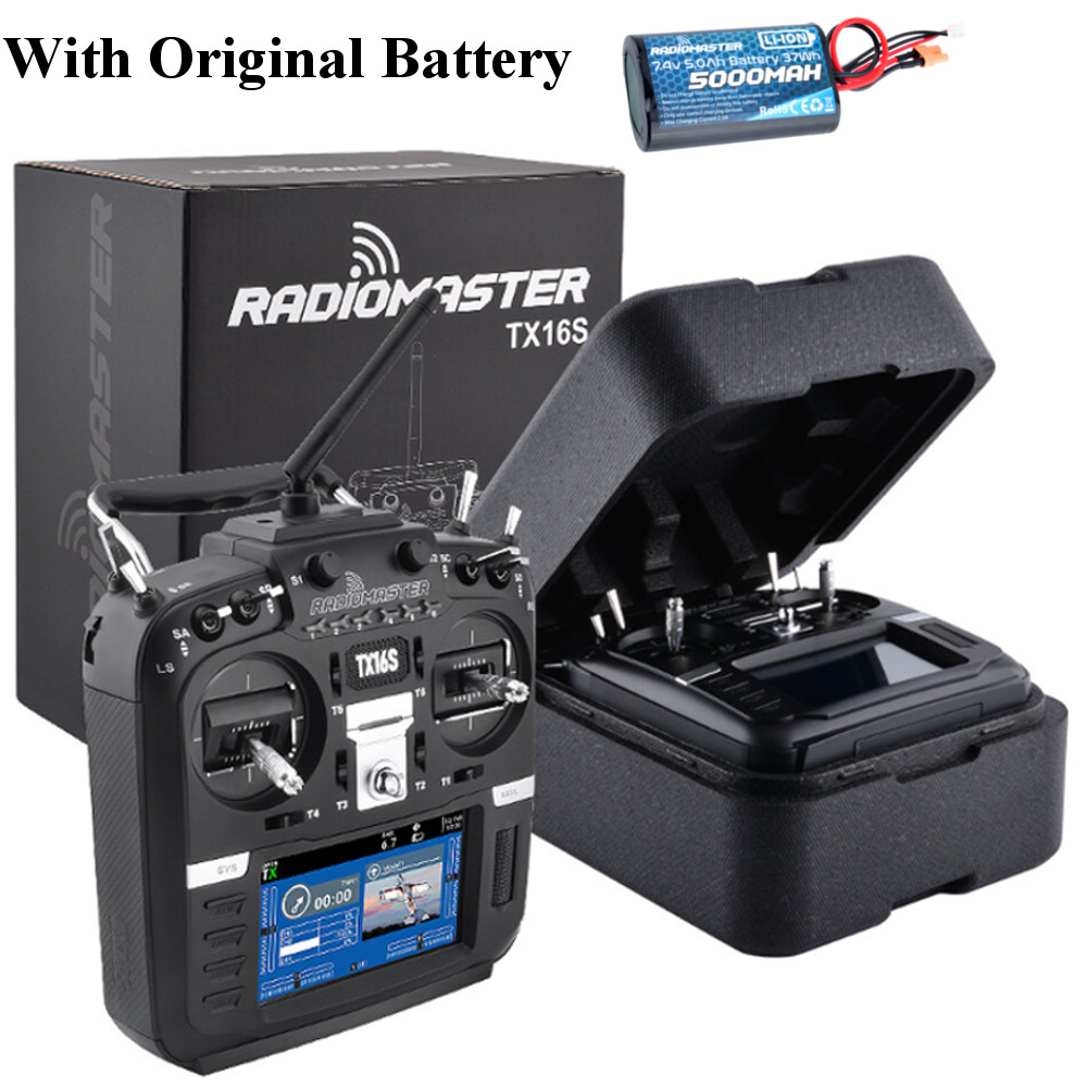 RadioMaster TX16S Hall Sensor Gimbals 2.4G 16CH Multi-protocol RF OpenTX Transmitter Controller 5000mah Battery For RC Drone