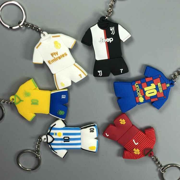 Futbol yıldızı anahtarlık kolye 18-19 sezon forması askı süsleri hatıra hediye C Luo Messi Salah