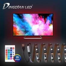RGB светодиодные полосы света USB 5 В постоянного тока Сид SMD5050 Лента 16 цветов 3см экраном рабочего освещения с диодной подсветкой
