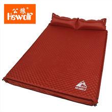 Двуспальная надувная кровать hewolf толщина 5 см подушка матрас