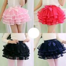 Детская одежда из 4 слоев сетчатого материала юбки юбка пачка