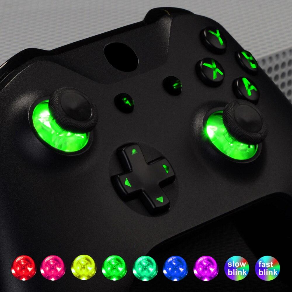 Multi-couleurs luminé punaise symboles classiques d-pad début/retour ABXY bouton DTF Kit de LED pour XB One Standard, contrôleur S X