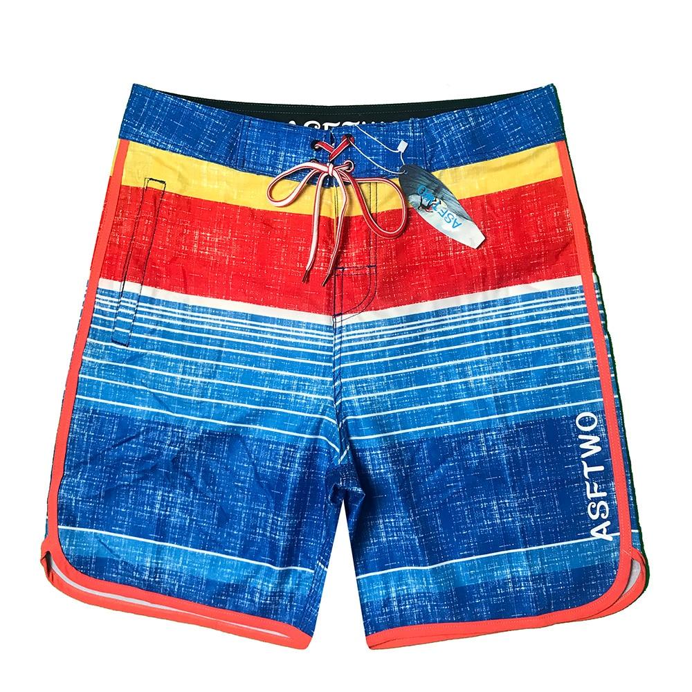 Image 4 - Colorvalue Waterproof Boardshorts Swim Trunks New Men Quick Dry Striped Beach Shorts Ice Silk Fabric Male Bandage SwimsuitBoard Shorts   -