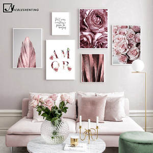 Fashion Poster Painting Picture Flower Rose Living-Room-Decor Wall-Art Scandinavian Canvas Print
