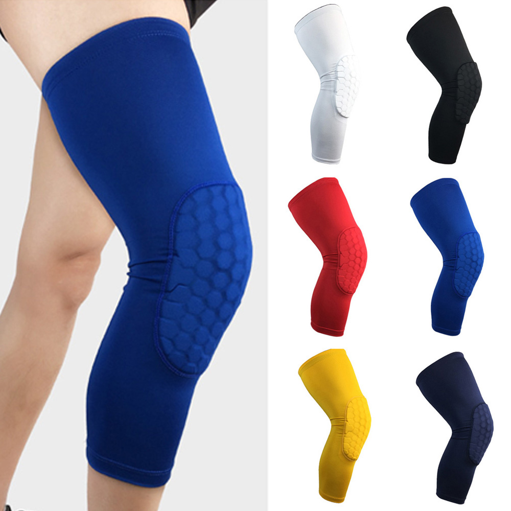 Sports Knee Pads Protectors Supports Leg Guards Elastic Anti-collision Athletics