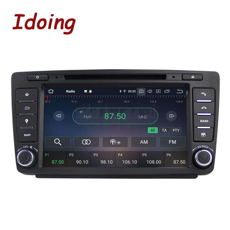 Image 2 - Idoing Android 9.0 4G+64G 8Core 2Din Steering Wheel For Skoda Octavia 2 Car Multimedia DVD Player 1080P HDP GPS+Glonass 2 din-in Car Multimedia Player from Automobiles & Motorcycles