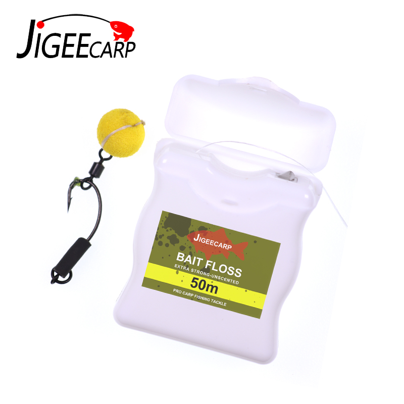 50m Carp Fishing Accessories Bait Floss Grips POP UP Boilies Holder Chod Hair Ronnie Rig Method Feeder Fishing Terminal Tackle