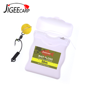 50m Carp Fishing Accessories Bait Floss Grips POP UP Boilies Holder Chod Hair Ronnie Rig Method Feeder Fishing Terminal Tackle(China)