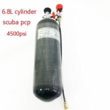 AC168301 6.8L 300Bar/4500Psi Cilinder Pcp PaintballCarbon Fiber Tank Onderwater Gun Speargun Onderwatervissers AirforceCondor Acecare(China)