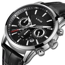 Часы наручные lige Мужские кварцевые брендовые Роскошные повседневные